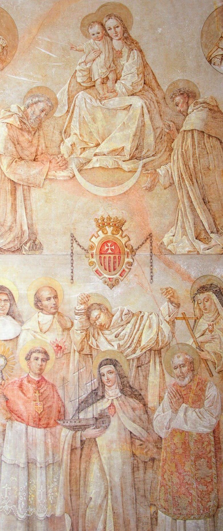 Apoteosis Mercedaria, obra de Nati Cañada en el Convento de El Olivar, Teruel, España