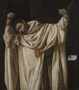 Este es el cuadro San Serapio, de Francisco Zurbarán, elaborado en 1628.