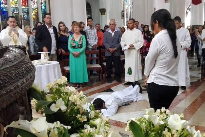 Ordenación sacerdotal de Fray Alejandro Rincón Quiroz.