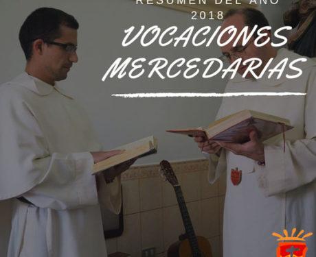 Resumen de las vocaciones mercedarias 2018 Provincia de Aragón.