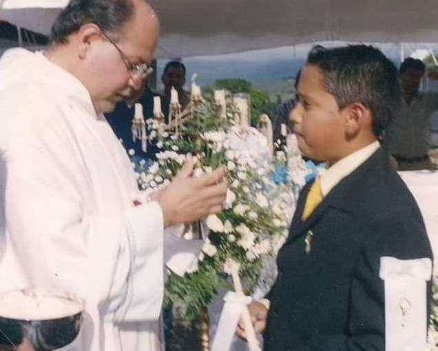 Fray Andrés Jaimes Carrillo el día de su Primera Comunión.