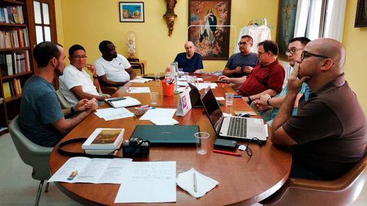 Sacerdotes de la Provincia Mercedaria de Aragón en el II Encuentro de Formadores en Barcelona.