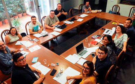 Reunión del equipo dePastoral Juvenil Vocacional – Misión Compartida de la Provincia Mercedaria de Aragón, España, en El Puig.